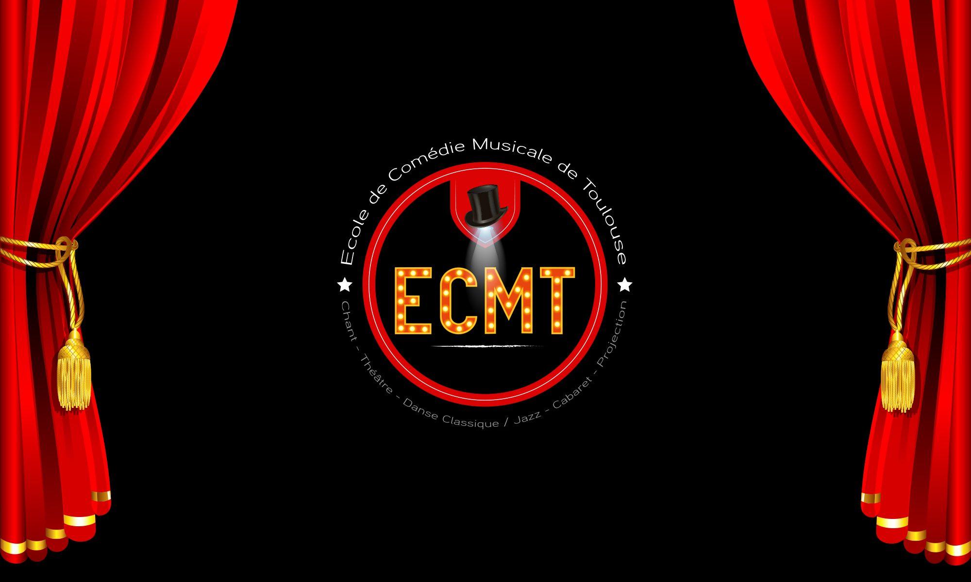 comedie musicale logo noir rouge